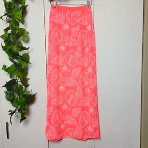 FREE ADD ON🌟 H&M Neon Pink Side Slit Maxi Skirt